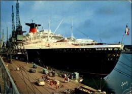 76 - LE HAVRE - BATEAUX - PAQUEBOTS - FRANCE - Transatlantique - - Steamers
