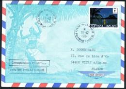 Lettre Illustrée Cachet Et Marques Postales Du Centre Philatélique De Polynésie Française - Polynésie Française