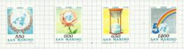 Saint-Marin N°1398 à 1401 Neufs  Côte 4.75 Euros - San Marino