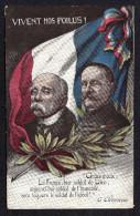 """CPA : """"VIVES NOS POILUS!"""". Citation De G. CLEMENCEAU. Lire La Suite>>> - Patriotiques"""