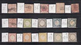 1858 - 1861   VARIOS   SELLOS  ,  * / (*) / O  ( CAT  + 1400 € ) - Nápoles