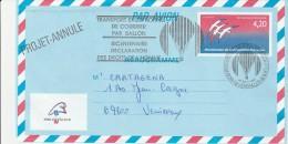 LETTRE -  TRANSPORT EXCEPTIONNEL DE COURRIER PAR BALLON -PROJET ANNULE -1989