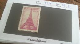 LOT 241705 TIMBRE DE FRANCE NEUF** N�429 VALEUR 17 EUROS