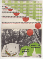 C1612 - MAPPA - SPAGNA - ESPANA CAMPING 1967 - Altri