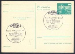 Germany Deutschland DDR 1981 Card: Space Weltraum: 25 Jahre Kosmische Era: Raketen Als Antriebsmitterl Nach Fontana - FDC & Gedenkmarken