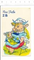 Humour Vintage Imagerie Ancienne / Madame Vache / Biberon De Lait Allaitement Animal Veau ?? Nurse ??   // IM 159 - Old Paper
