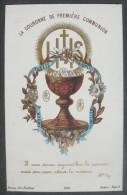 IMAGE PIEUSE Chromo Bonamy Année 1881: Sainte Eucharistie LA COURONNE DE PREMIERE COMMUNION /  HOLY CARD SANTINI - Images Religieuses