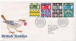 Great Britain Set On Used FDC - Textile