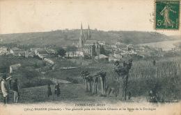 ENTRE DEUX MERS - BRANNE - Vue Générale Prise Des Grands Côteaux Et Les Rives De La Dordogne - France