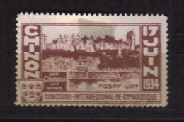 1934 - INDRE ET LOIRE  / CHINON Concours De Gymnastique - Unclassified