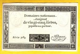 ASSIGNAT De 25 Livres. 6 Juin 1793 - - Assignats & Mandats Territoriaux