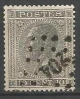 Belgique - Leopold Ier - N°17A - Obl. LP204 LA LOUVIERE (Nipa+30)