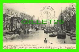 ROTTERDAM, NETHERLAND - VOORHAVEN (VOORMALIGE DELFTSCHE HAVEN - N. J. BOON - TRAVEL IN 1902 - UNDIVIDED BACK - - Rotterdam