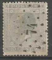 Belgique - Leopold Ier - N°17A - Obl. LP74 CELLES (Nipa+500)