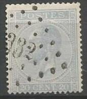 Belgique - Leopold Ier - N°18A - Obl. LP332 SERAING (Nipa+20)
