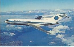 Pan American Airlines 727 Jet Clipper, Jet Plane In Flight, C1960s Vintage Postcard - 1946-....: Moderne