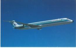 Republic Airlines(1979-1986) DC-9 80 Jet Plane In Flight, C1970s/80s Vintage Postcard - 1946-....: Moderne