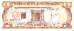 BILLETE DE REP. DOMINICANA DE 100 PESOS ORO DEL AÑO 1993 SERIE B (BANKNOTE) - República Dominicana