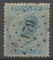 Belgique - Leopold Ier - N°18 - Obl. LP179 HERVE
