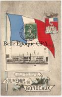 33 - SOUVENIR De BORDEAUX - Les Colonnes Rostrales Pendant L'EXPOSITION ++++ E. W. ++++ Vers Paris, 1907 +++++ RARE - Bordeaux
