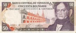 BILLETE DE VENEZUELA DE 50 BOLIVARES DEL AÑO 1988 (BANKNOTE) - Venezuela