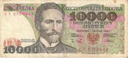 BILLETE DE POLONIA DE 10000 ZLOTYCH  AÑO 1988  (BANKNOTE) - Polonia
