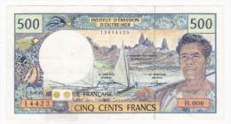 Polynésie Française / Tahiti - 500 FCFP - B.006 / Signatures Jurgensen / Ferman / Beugnot - Papeete (French Polynesia 1914-1985)