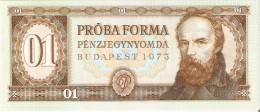 BILLETE DE HUNGRIA DE PROBA FORMA DEL AÑO 1973  (BANKNOTE) MAASTRICHT BOURSE 1993 - Ficción & Especímenes