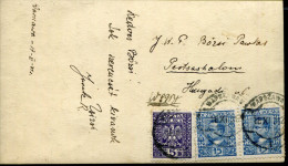 POLAND 1931 MIXED FRANKING PICTURE POSTCARD TO HUNGARY - 1919-1939 Republic