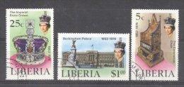 Liberia 1978 Elizabeth Silver Coronation Used DE.107 - Liberia