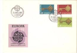Sobre De Primer Dia Portugal 1968 - 1910-... República