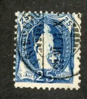 3544   Swiss 1899   Mi.#67C (o) Zum.#73D  Scott #94  Cat. 5.€ -Offers Welcome!- - Gebraucht