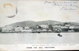 SIERRA LEONE FREETOWN FROM THE SEA TIMBRE EN LEVE - Sierra Leona