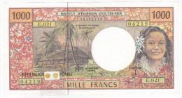 Polynésie Française / Tahiti - 1000 FCFP - E.021 / Signatures Pouilleute / Redouin / Audren - Papeete (Polynésie Française 1914-1985)