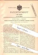 Original Patent - Enrico Maag In Palermo , Sicilia , 1900 , Schermo Con Movimento A Manovella !!! - Palermo