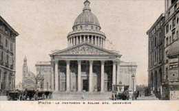 CPA PARIS - PANTHEON & EGLISE SAINTE GENEVIEVE - Panthéon