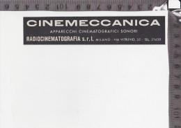CO-1289 MILANO RADIOCINEMATOGRAFIA SRL CINEMECCANICA PUBBLICITA - Autres