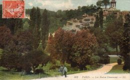 CPA PARIS - LES BUTTES CHAUMONT - Parcs, Jardins