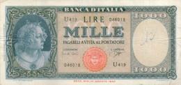 Italy,1000 Lire ,25.9.1961,P.88d,Sign:Carli/Ripa,see Scan - [ 2] 1946-… : Repubblica