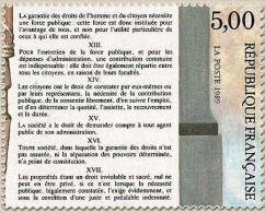 Bicentenaire De La Révolution Et De La Déclaration Des Droits De L'Homme Et Du Citoyen. 5f. Articles XII à XVII Y2599 - Frankreich
