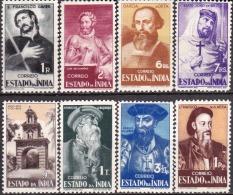 ÍNDIA -1946,   Motivos Históricos. ( Série, 8 Valores )   (*) MNG  Afinsa  Nº 376/83 - India Portoghese
