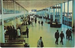 O'Hare Airport,  Chicago Illinois, Terminal Building Interior View, C1960s Vintage Postcard - Aerodrome