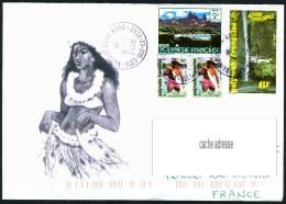 Lettre Illustrée  Cachet De VAITAPE-BORA BORA - Cartas