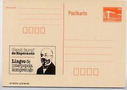 100 J. ESPERANTO ZAMENHOF Leipzig DDR P86I-3-87 C5 PRIVATER ZUDRUCK 1987 - Esperanto