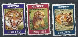 137 BANGLADESH 1974 - Animaux Tigre (Yvert 56/58) Neuf ** (MNH) Sans Trace De Charnière - Bangladesh