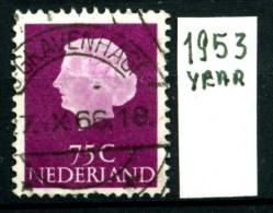 OLANDA - NEDERLAND - Year 1953 - 75 Cent - Usato - Used. - 1949-1980 (Juliana)