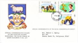 FALKLAND  ISLANDS  FDC  COVER  SILVER  JUBILEE  QE  II - Falkland Islands