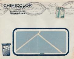 MAROC  COLONIE FRANCAISE   TIMBRE N° 353 Sur Lettre  AVEC   FLAMME - Maroc (1956-...)