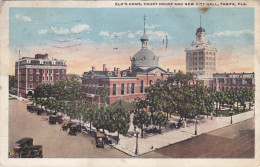 TAMPA, Florida, PU-1925; Elk's Home, Court House And New City Hall, Classic Cars