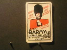 Playing Cards / Carte A Jouer / 1 Dos De Cartes De La Brasserie - Brouwerij - L'Union Jumet -  Barmy 333  , - Cartes à Jouer